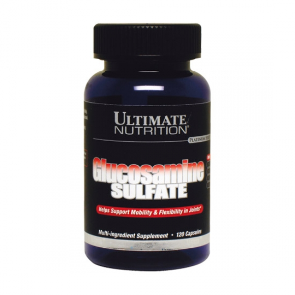 Купить Глюкозамин для суставов Glucosamine Sulfate 500 mg Ultimate Nutrition 120 капсул в Санкт-Петербурге