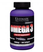 Купить Жирные кислоты Omega 3 Softgels Ultimate Nutrition банка 180 капсул в Санкт-Петербурге